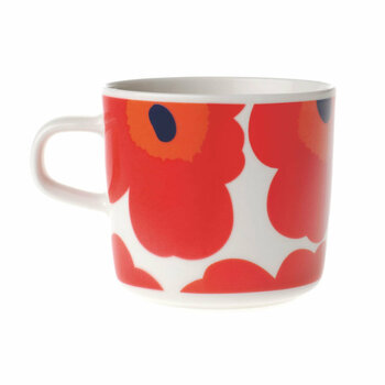 Oiva/Unikko Coffee Cup - Red/White