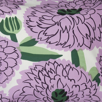 Primavera Pillowcase - White/Violet/Green - 50x70cm