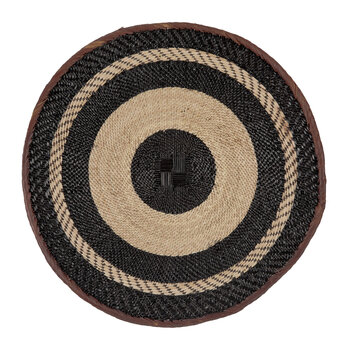 Tonga Basket Wall Hanging - Large - Black Stripe