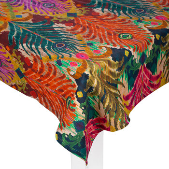 Nappe de table en coton Matthew Williamson - Plume de paon