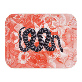 Snake Tray - Orange/Black