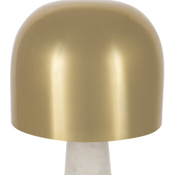 Gold & Marble Mushroom Table Lamp
