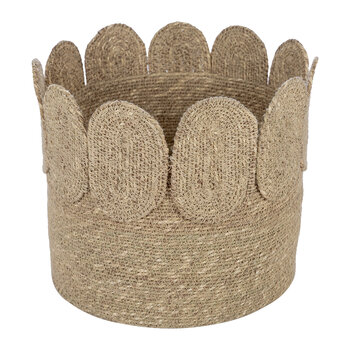 Scallop Edge Seagrass Storage Basket