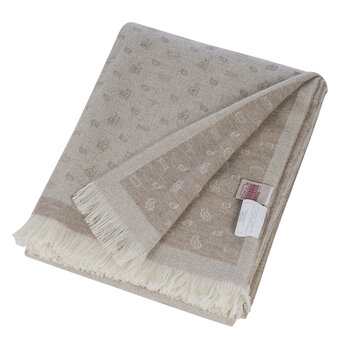 Avignone Caumont Fringed Throw - 140x180cm - Beige