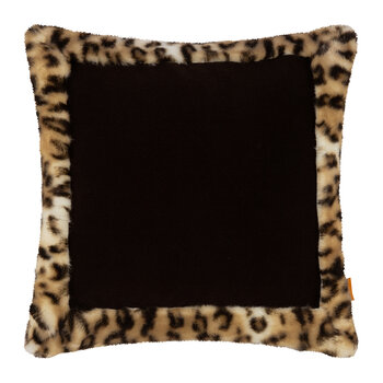 Leo Pillow with Edge - Brown