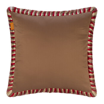 Salazar Jolly Roger Pillow with Piping - 45x45cm - Red