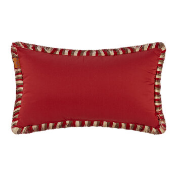 Salazar Turner Pillow with Piping - 30x40cm - Red