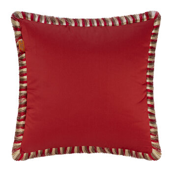 Salazar Turner Pillow with Piping - 45x45cm - Red