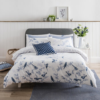 Set de Couette British Birds - Bleu