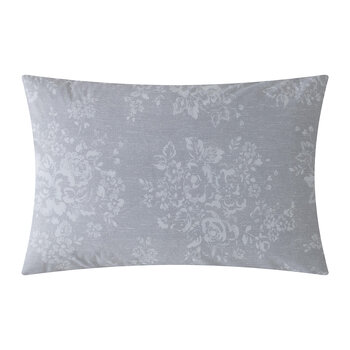 Washed Rose Pillowcase - Set of 2 - Grey