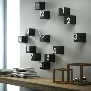 Rnd Time Wall Clock - Dark Wood