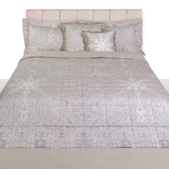 Avignone Montfavet Panel Quilted Bedcover - 270x270cm - Beige