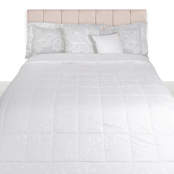 Jacquard Reims Quilted Bedcover - 270x270cm - Gray