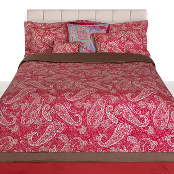 Salazar Turner Quilted Bedcover with Double Edge - 270x270cm - Red