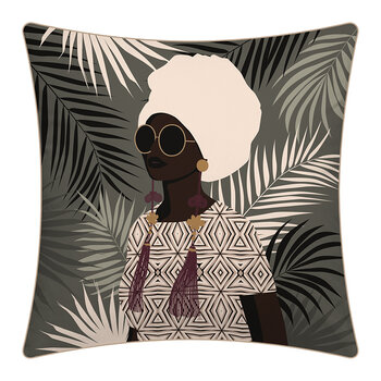 Sunset Woman Outdoor Cushion - 45x45cm