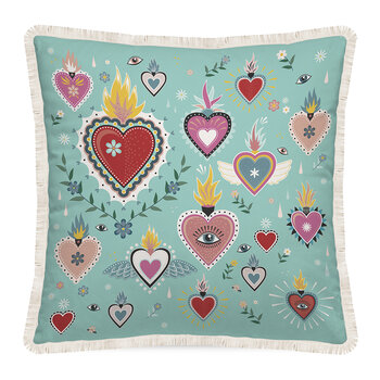 Tattoo Heart Outdoor Pillow - 45x45cm