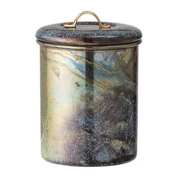 Marbled Jar with Lid - Multi