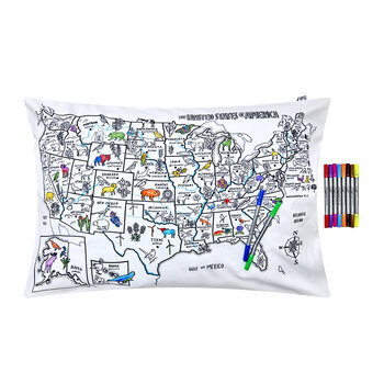 US Maps Pillowcase - 75x50cm