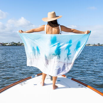 The Hawaii Palm Shadows Towel