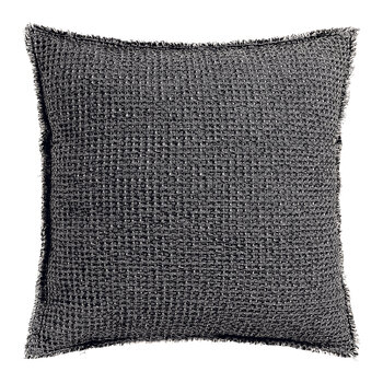 Maia Chambray Cushion - 45x45cm - Carbon