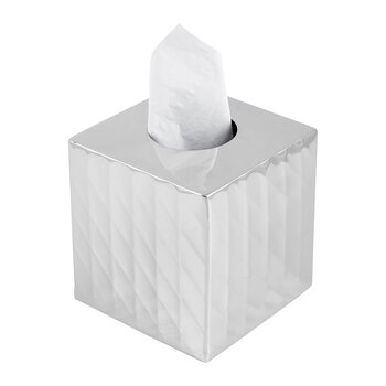 Nickel Textured Square Tissue Box