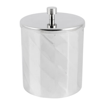 Nickel Textured Storage Pot