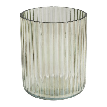 Ridged Glass Toothbrush Holder