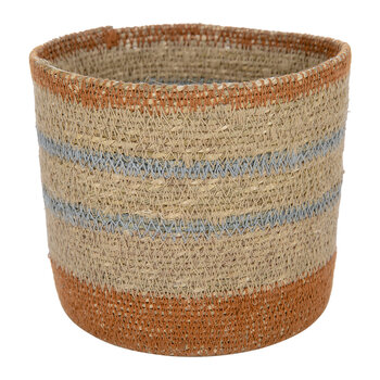 Striped Seagrass Storage Baskets - Set of 2