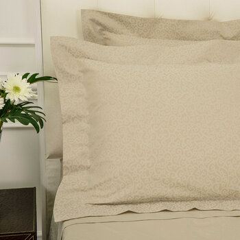 Princess Grace Pair Of Oxford Pillowcase - Taupe