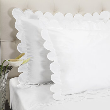 Scallop Oxford Pair Of Pillowcase - White