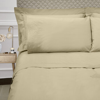 Wallis Bed Set - Taupe/Silver