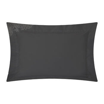 Wallis Oxford Pair Of Pillowcase - Charcoal/Silver
