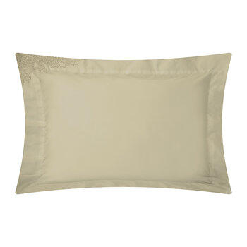 Wallis Oxford Pair Of Pillowcase - Taupe/Silver