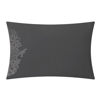 Wallis Pillowcase - Set of 2 - Charcoal/Silver