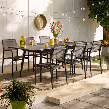 Outdoor Extendable Dining Table - Anthracite