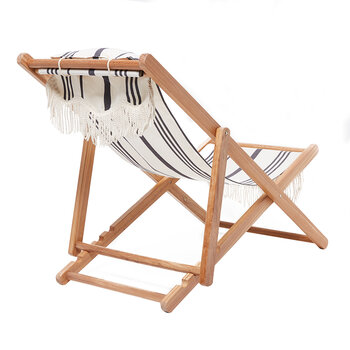 Premium Sling Chair - Vintage Black Stripe