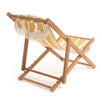 Premium Sling Chair - Vintage Yellow Stripe