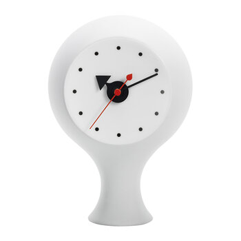 Ceramic Clock - Light Grey/Blue