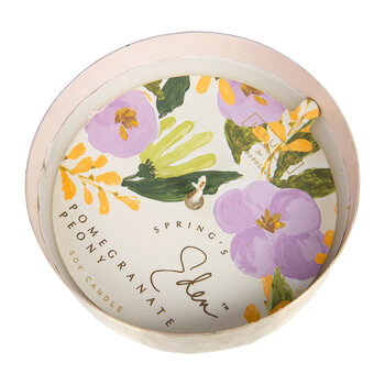 Springs Eden Scented Candle Tin - Pomegranate Peony