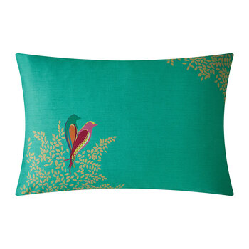 Green Birds Pillowcase - Set of 2
