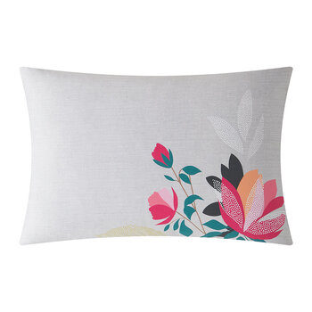 Peony Petals Pillowcase - Set of 2 - Pale Grey