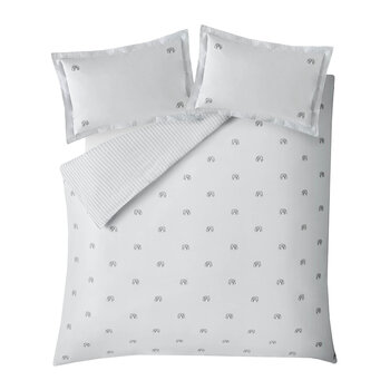 ZSL Elephant Duvet Set - White