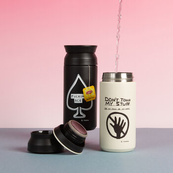 David Shrigley Don't Touch My Stuff Travel Tumbler