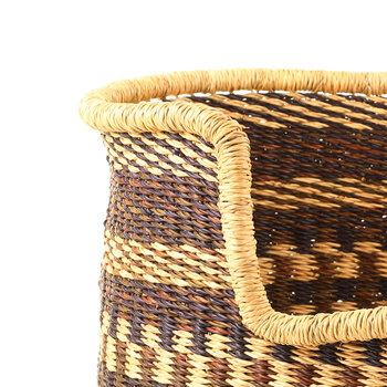 Hand Woven Pet Basket - Black/Natural