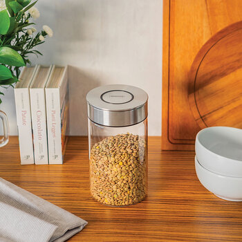 Glass Canister with Airtight Seal - 1L