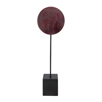 Asle Round Decorative Ornament - Red