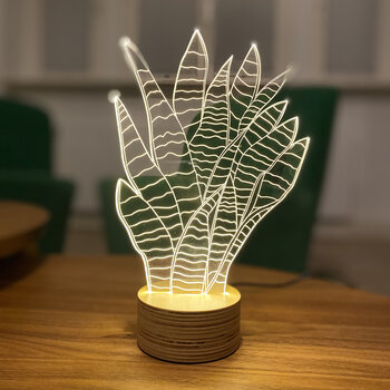 Snake Plant Table Lamp