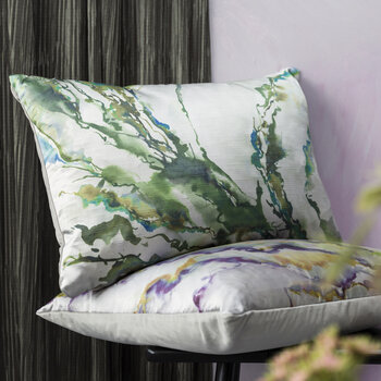 Ink Abstraction Pillow - 40x60cm - Forest
