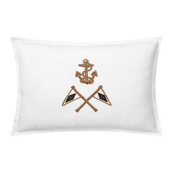 Grand Voyage Pillow Cover - Bayview White - 38x50cm
