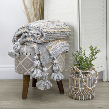 Chunky Knitted Throw - 130x170cm